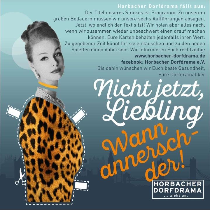 Horbacher Dorfdrama Flyer 2020